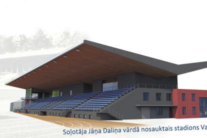 Soļotāja Jāņa Daliņa vārdā nosauktais stadions Valmierā